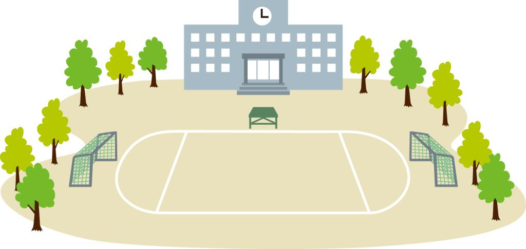 校舎と校庭