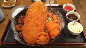 ミックスフライ丼