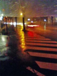 雨の国道20号