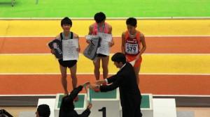 大阪室内800m表彰