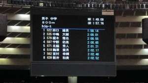 大阪室内800m結果