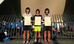 女子1年100mH表彰台独占