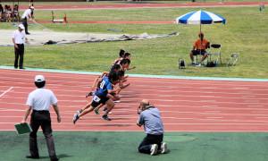4年男子100m決勝