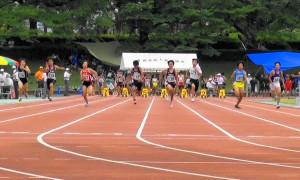中1男子100m決勝