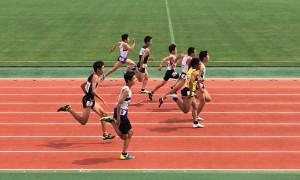男子1年100m決勝