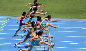 共通女子100mH予選