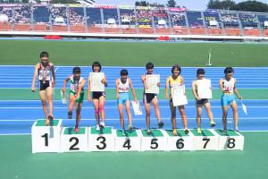 共通女子100mH表彰