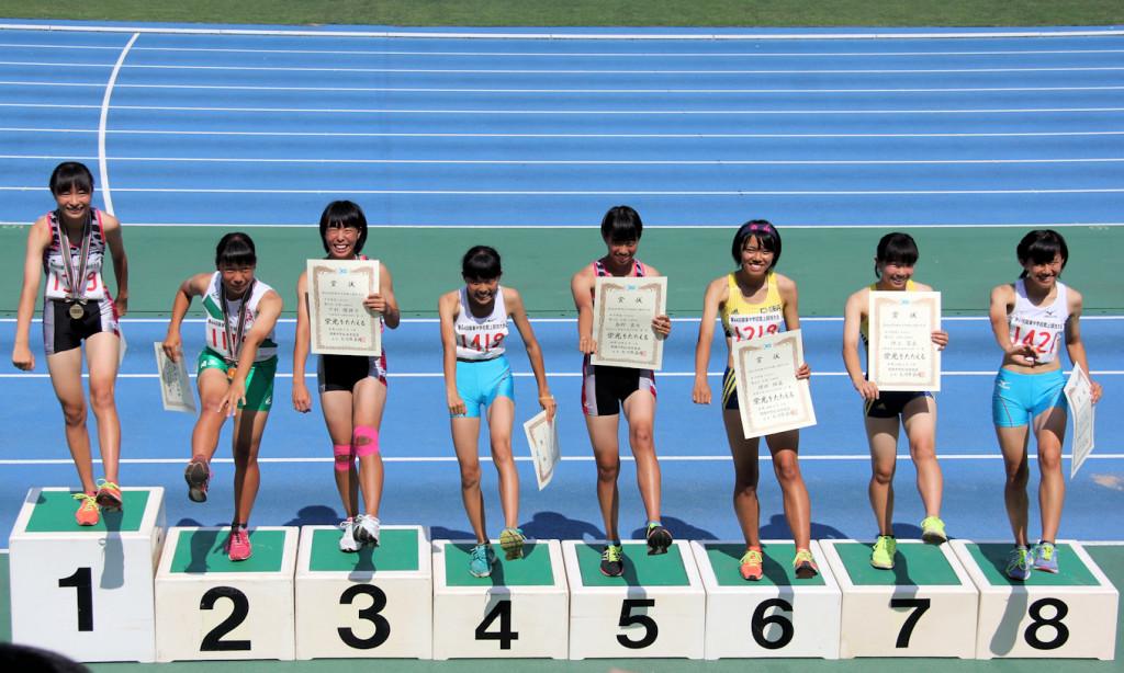 関東共通女子100mH表彰