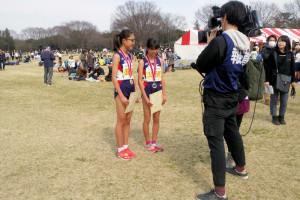 中学女子3kmインタビュー