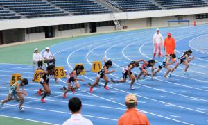 中1女子100m