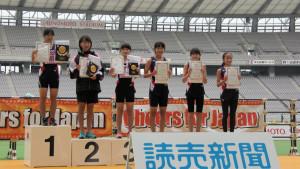 中学女子表彰式