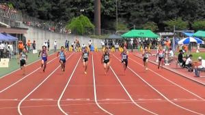 男子1年100m