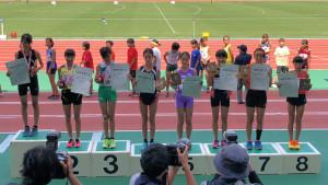 女子走高跳表彰式