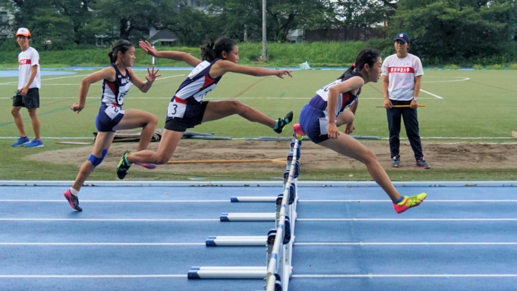 中学女子100mH