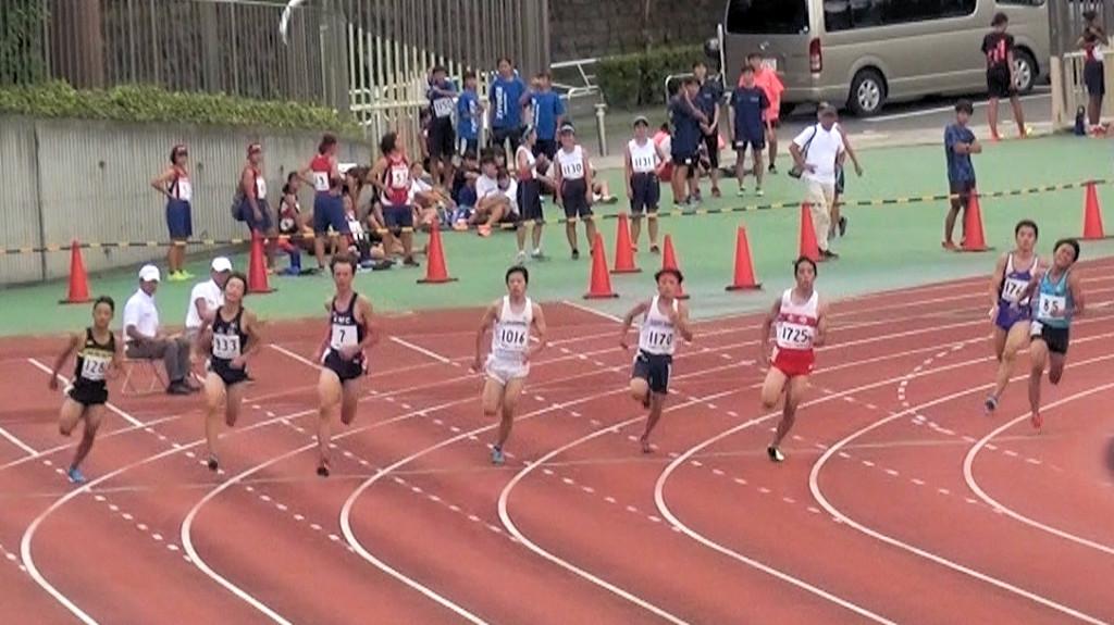 中学3年男子200m