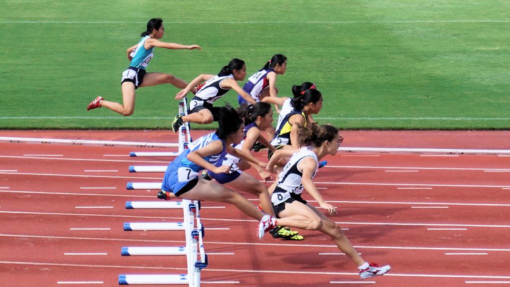 女子中学共通100mH