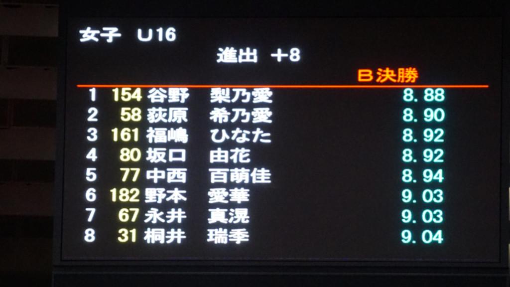 60mH予選結果