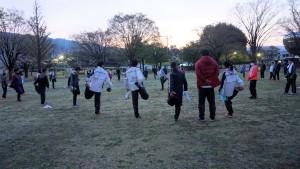 合宿最終日朝練習