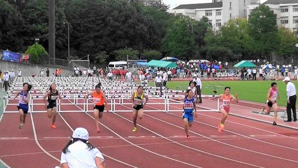 女子100mH決勝