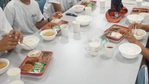 夏季合宿最終日朝食