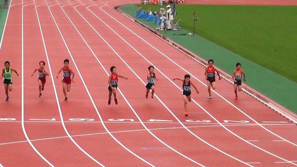 5年男子100m決勝