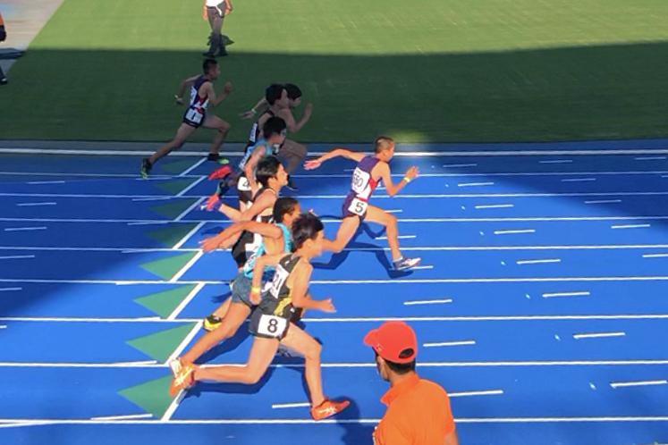 男子5年100m決勝