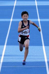 男子6年100m決勝