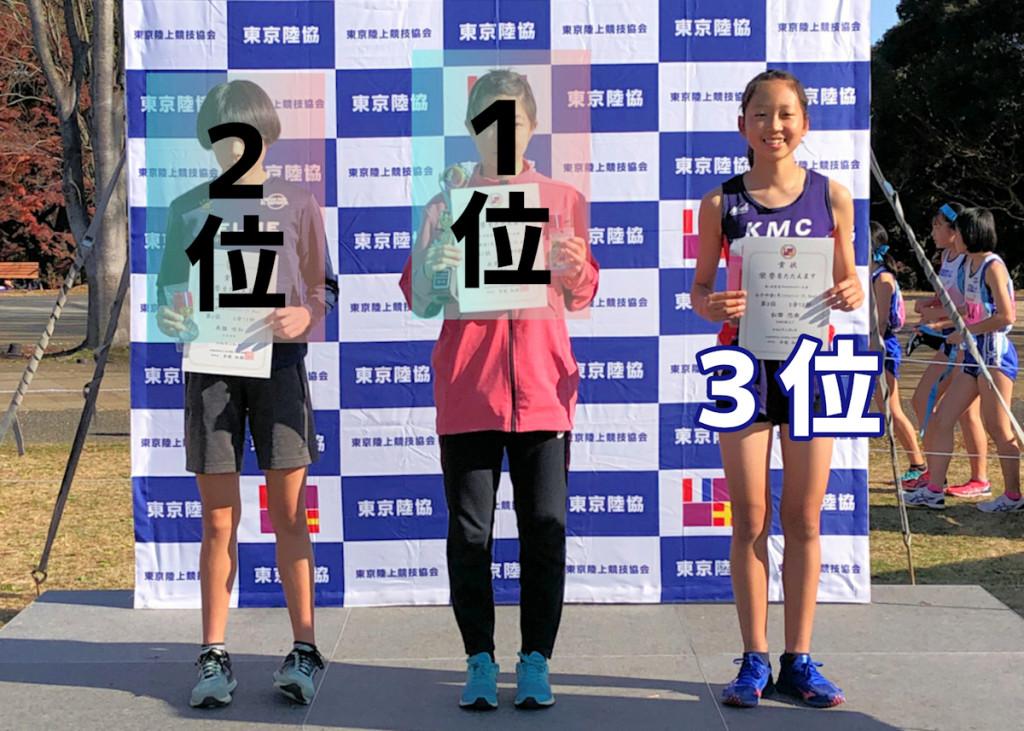 女子1年1.5km表彰