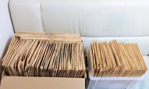 大量の郵便物